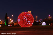Giant 3D Ornament with animated rope lights - 17ft