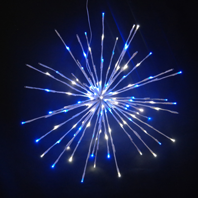 3D 16 inch Spritzers with blue and white glittering lights