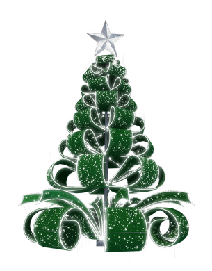 Ribbon Tree in Glittering Green - 28ft