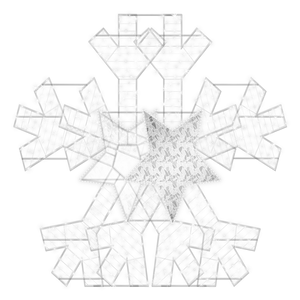 2D/3D Enchanted Pure White Snowflake - artistic-holiday-designs