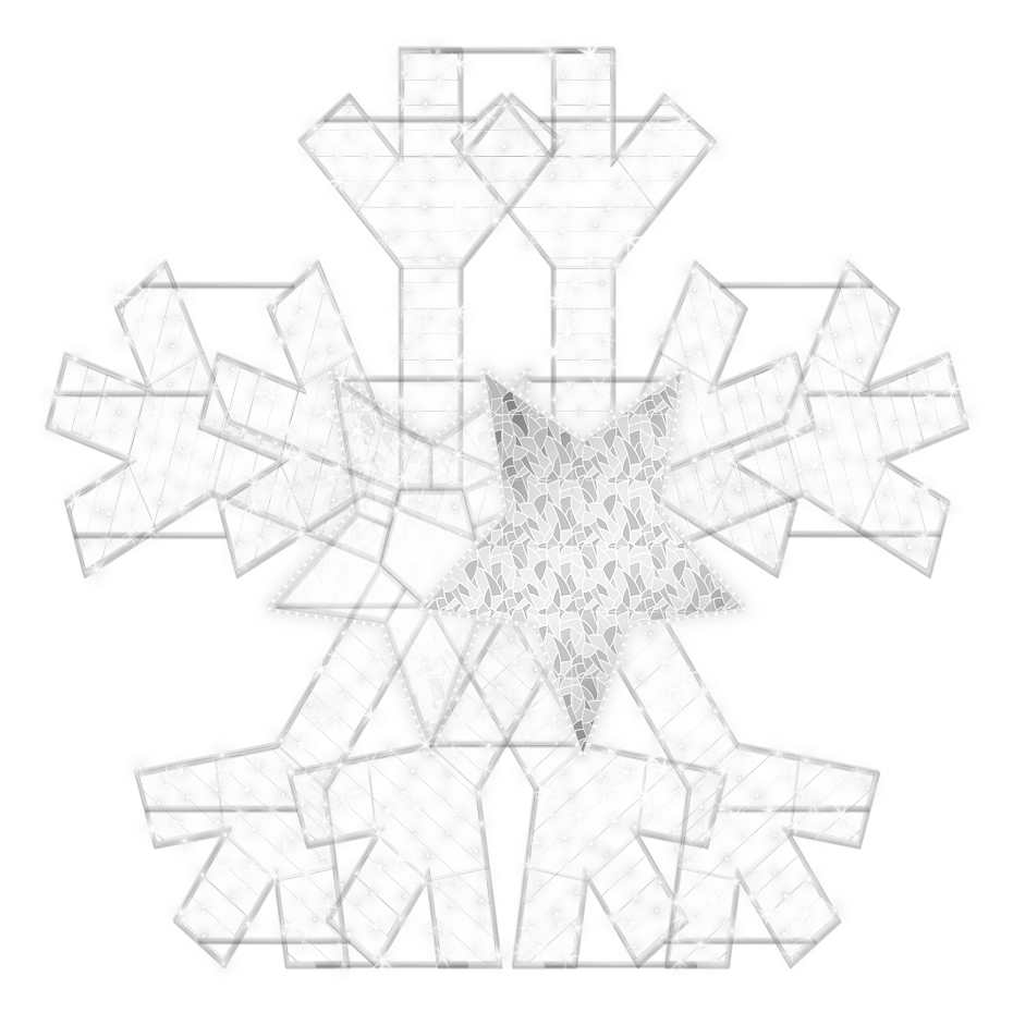 2D/3D Enchanted Pure White Snowflake