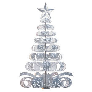 Ribbon Tree in Glittering White - 28ft