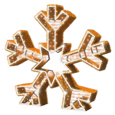 Majestic Gold Snowflake - 6.5ft - artistic-holiday-designs