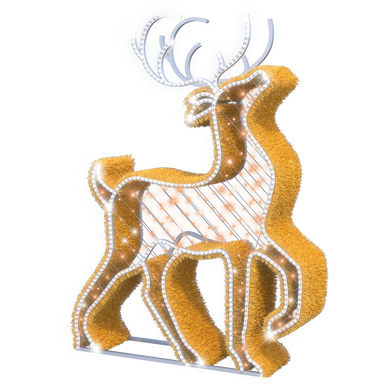 Majestic Reindeer - 6.3ft - artistic-holiday-designs