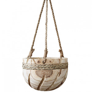 Inca Timber Hanging Pot