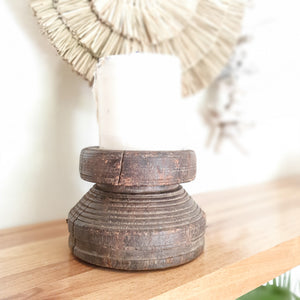 Wooden Candle Holder - Design 2