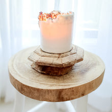 Raw Antique Wooden Candle Holder - Design 4