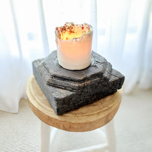 Ayla Wooden Antique Candle Holder- Design 1