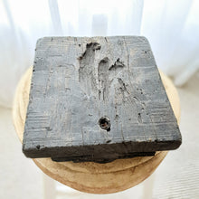 Ayla Antique Wooden Candle Holder- design 2