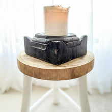 Ayla Antique Wooden Candle Holder- design 4