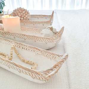 Lani Wood & Rattan Trays