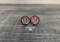 Rose Gold with Black Stud