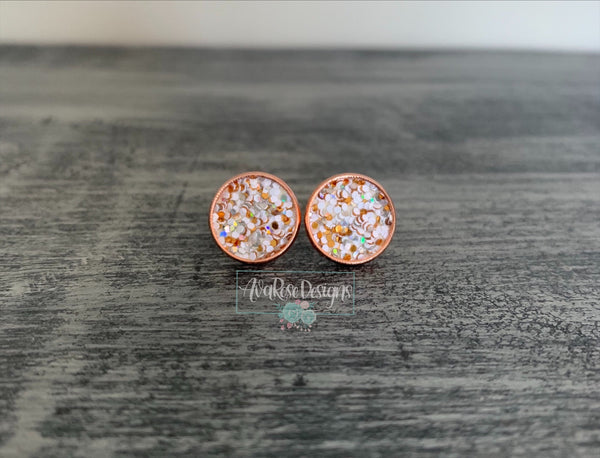 White and Rose Gold Sparkle
