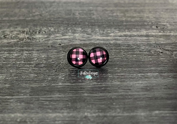 Pink Buffalo with Black Stud