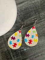 Puzzle Tear Drop Dangle
