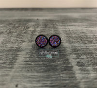 Magenta Rose Gold (flat stone) with Black Stud