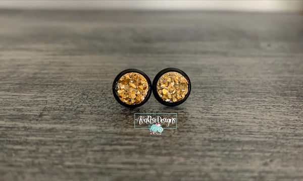 Gold with Black Stud