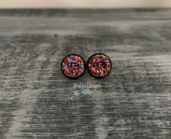 Magenta Rose Gold with Black Stud