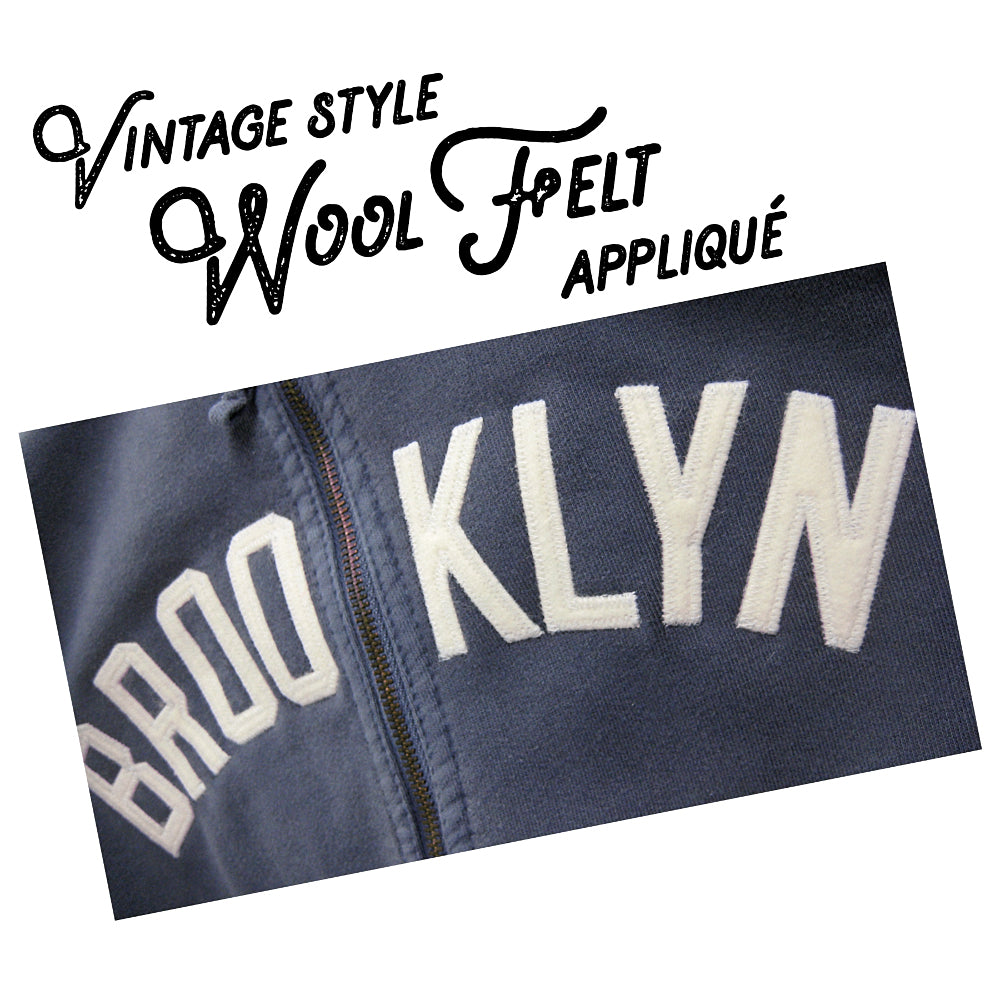 """World's Best"" Brooklyn Hoodie Wool Felt Applique"