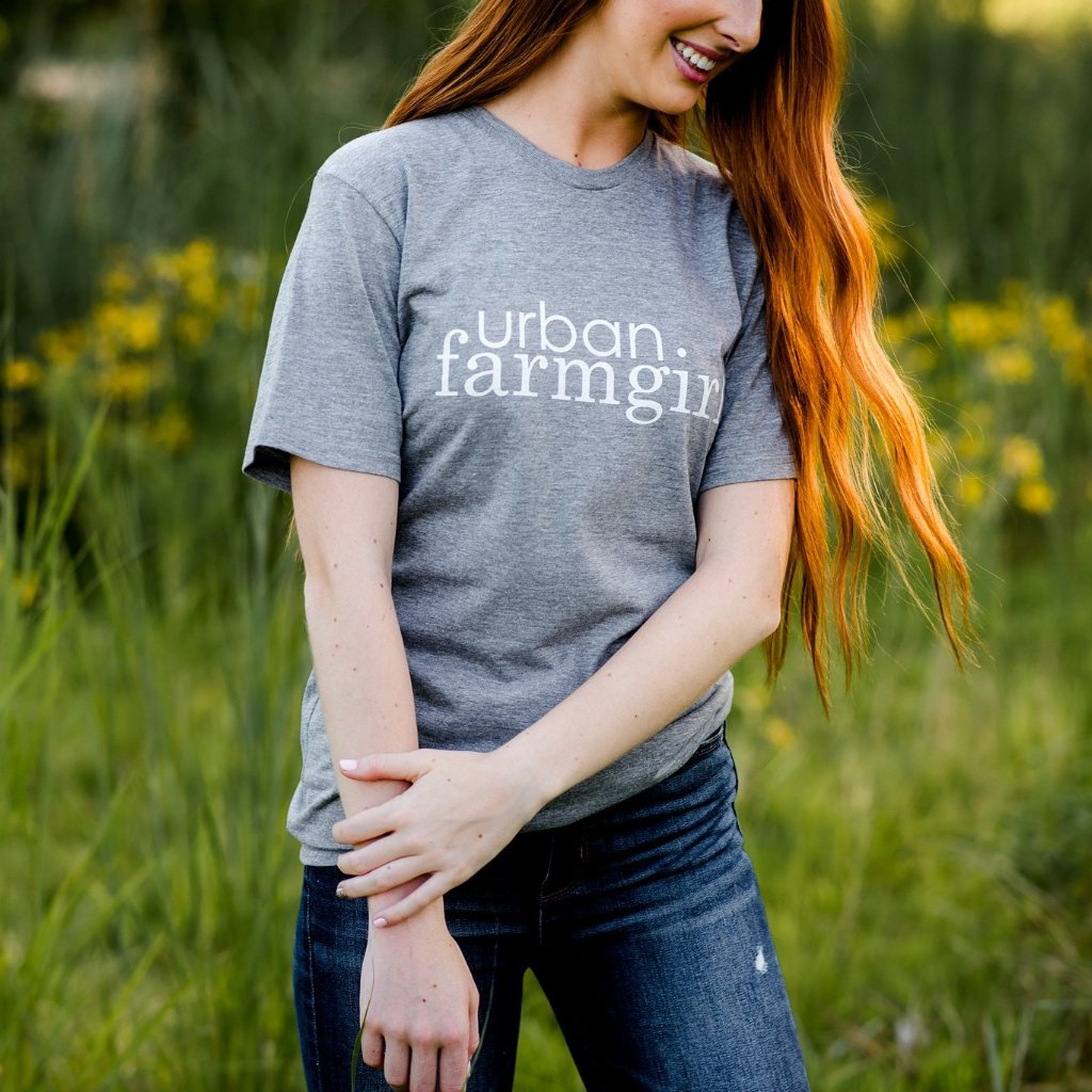 Gray Urban Farmgirl T-shirt