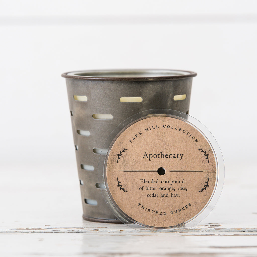 Olive Bucket Candles (Various Scents)
