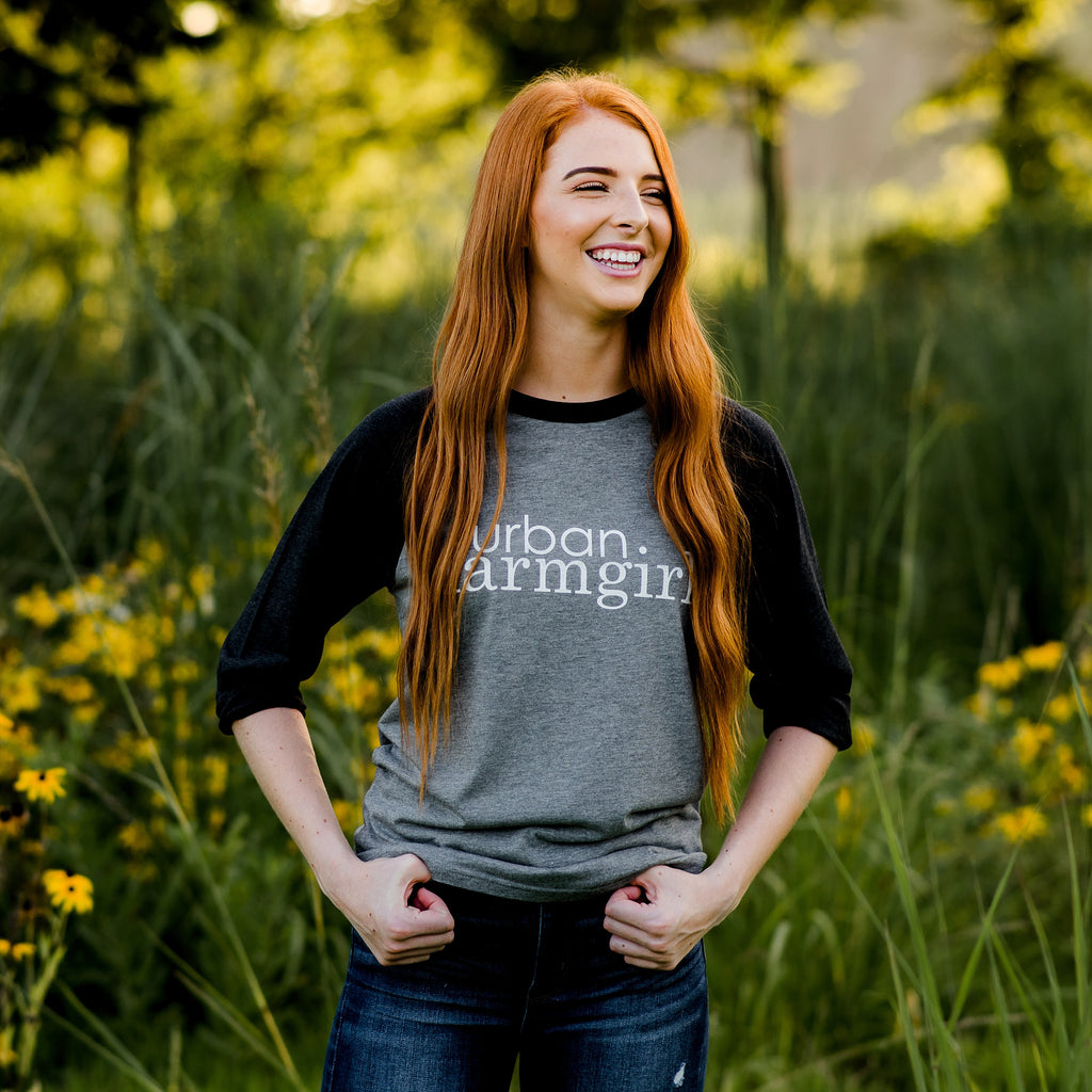 Black & Gray Urban Farmgirl T-shirt