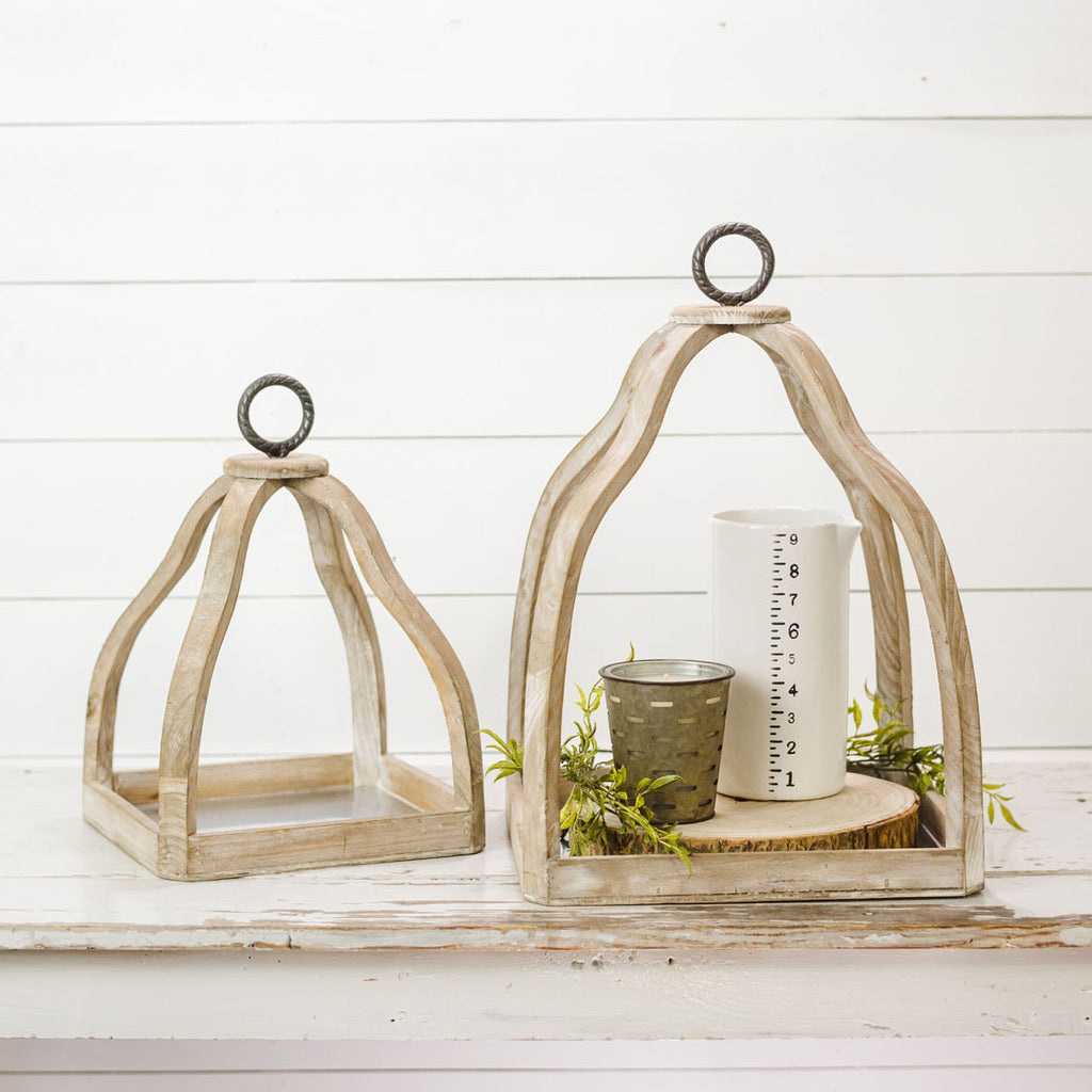 Wood Display Cloches
