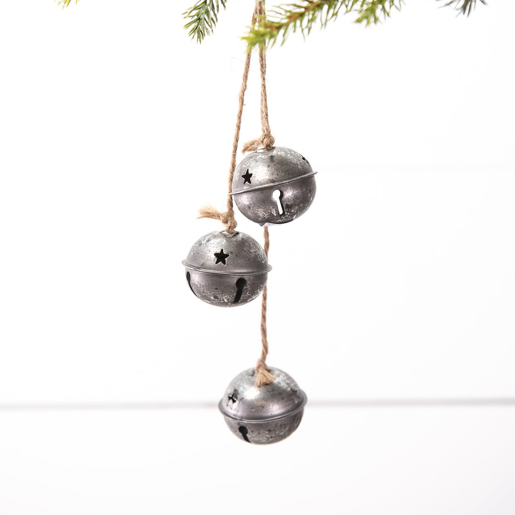 Three Silver Bells Hanging Ornament