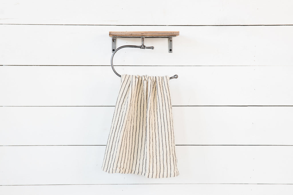 Natural & Black Stripe Dish Towel