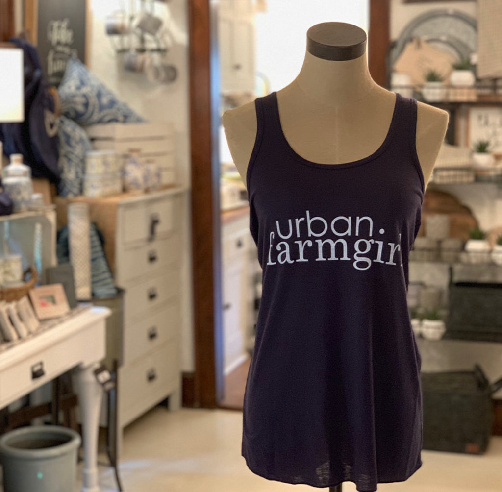 Blue Urban Farmgirl Tank Top