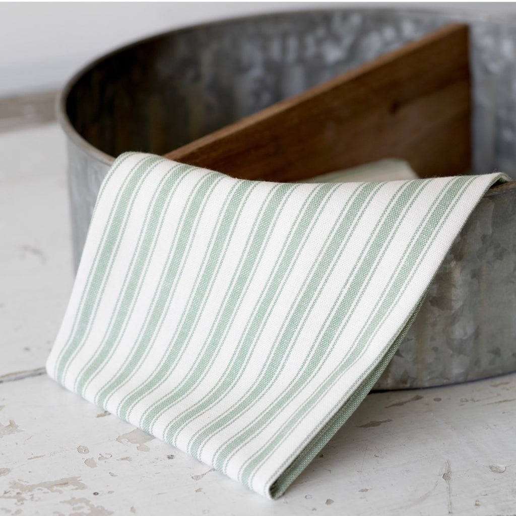 Sage Green Striped Towel