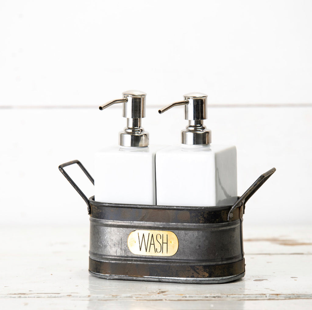 WASH Soap & Lotion Caddy Set