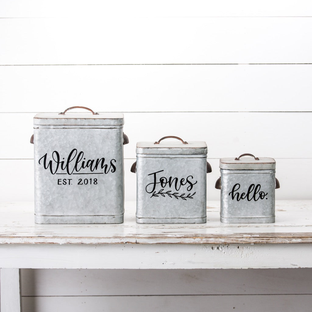 Large Personalized Canister