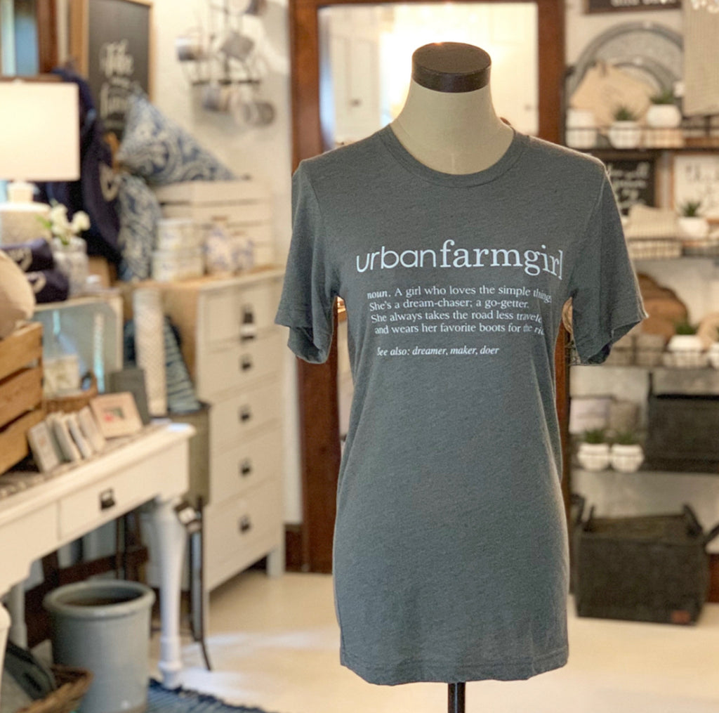 Green Urban Farmgirl Definition T-shirt