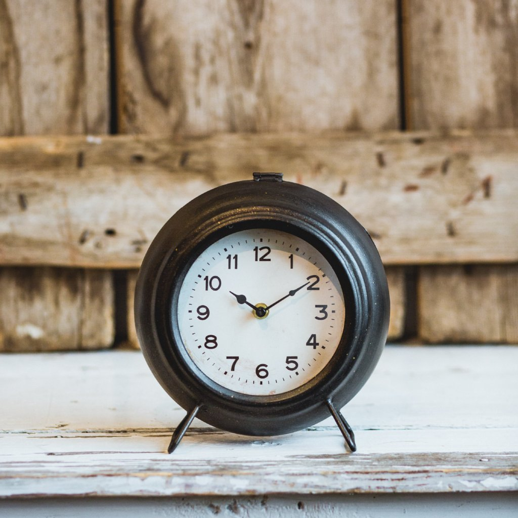 Black Farmhouse Mantle Clock