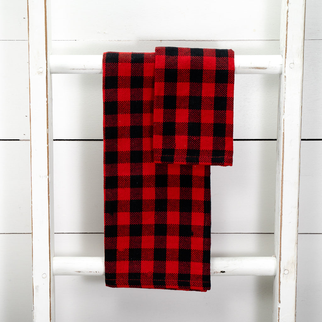 Red & Black Buffalo Check Kitchen Towels