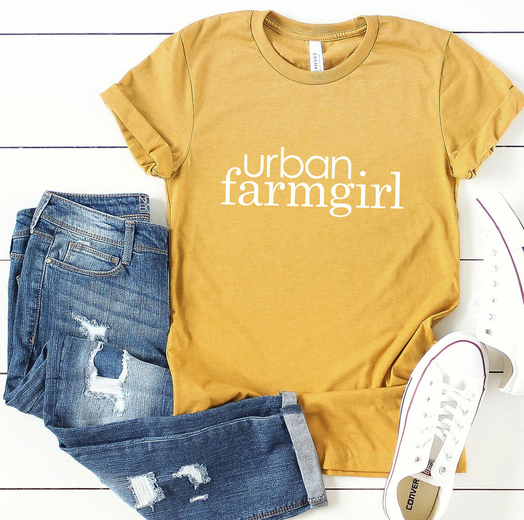 Mustard Urban Farmgirl T-Shirt