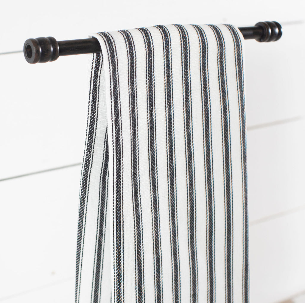Black Ticking Stripe Towel