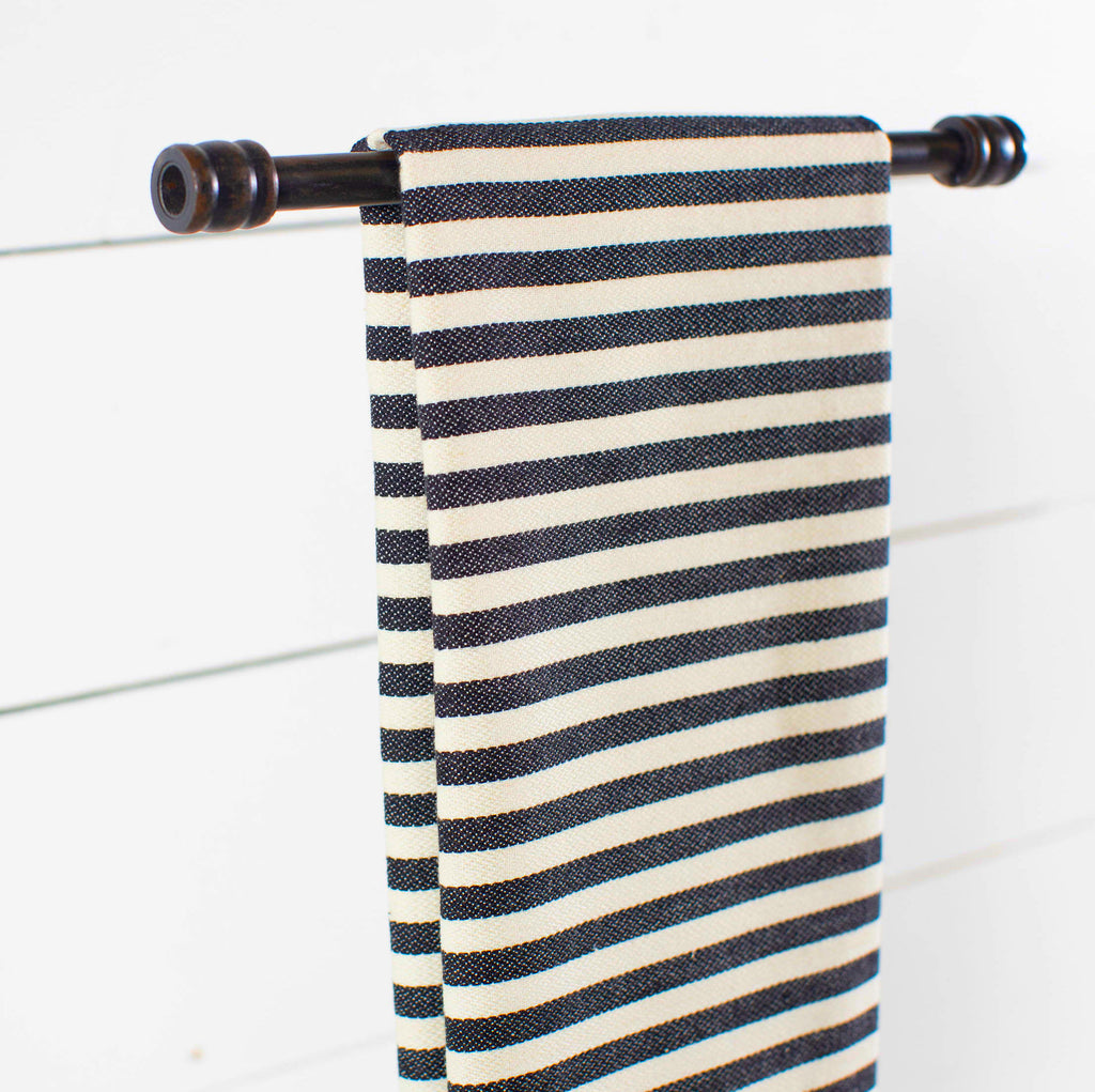 Black & Cream Stripe Towel