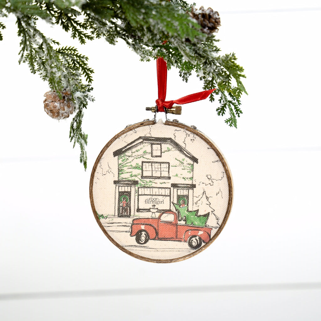 Urban Farmgirl Storefront Christmas Ornament