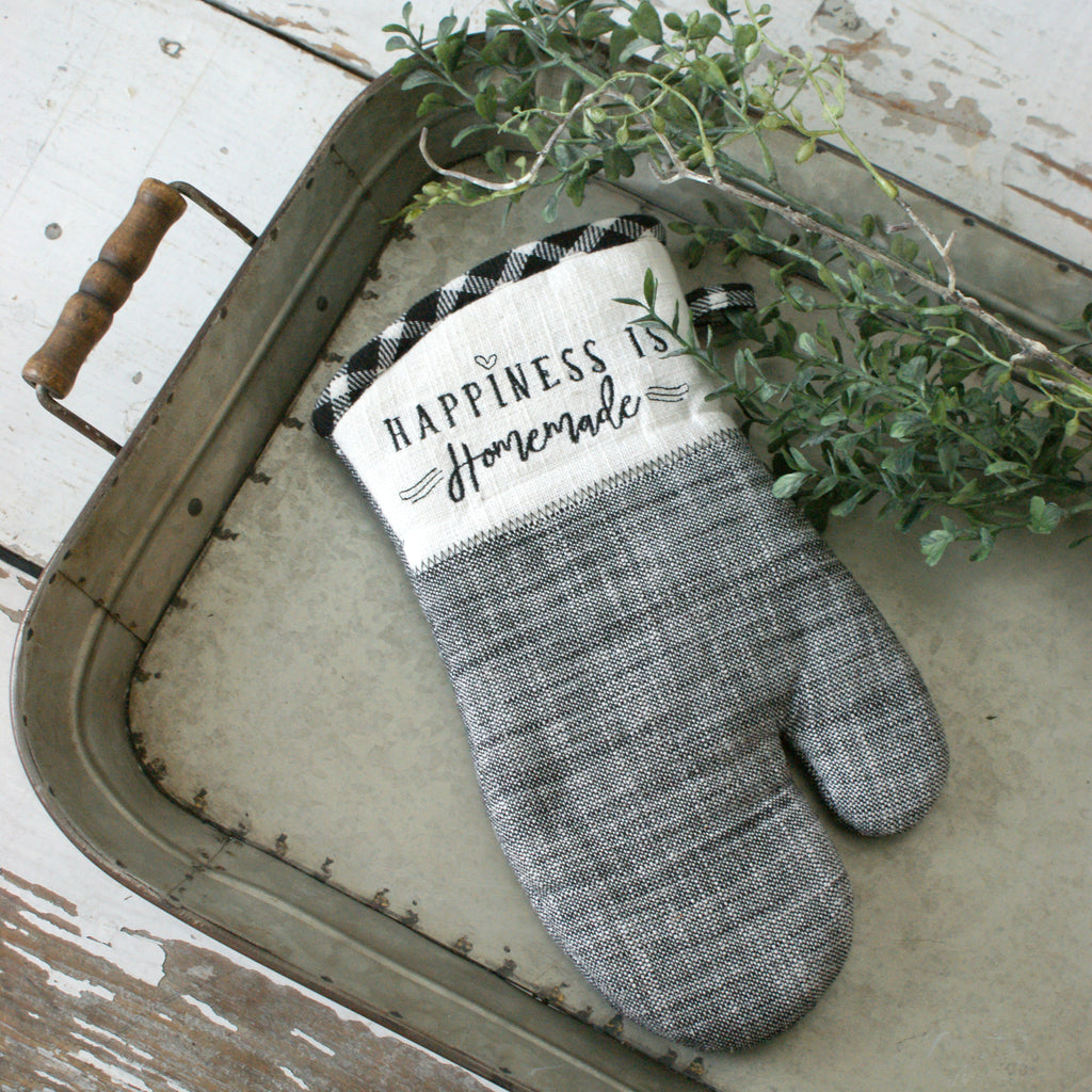 """Happiness is Homemade"" Oven Mitt"