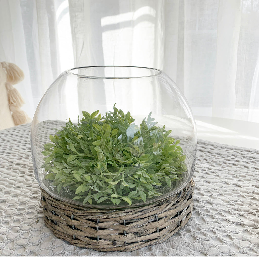 Glass & Wicker Terrarium