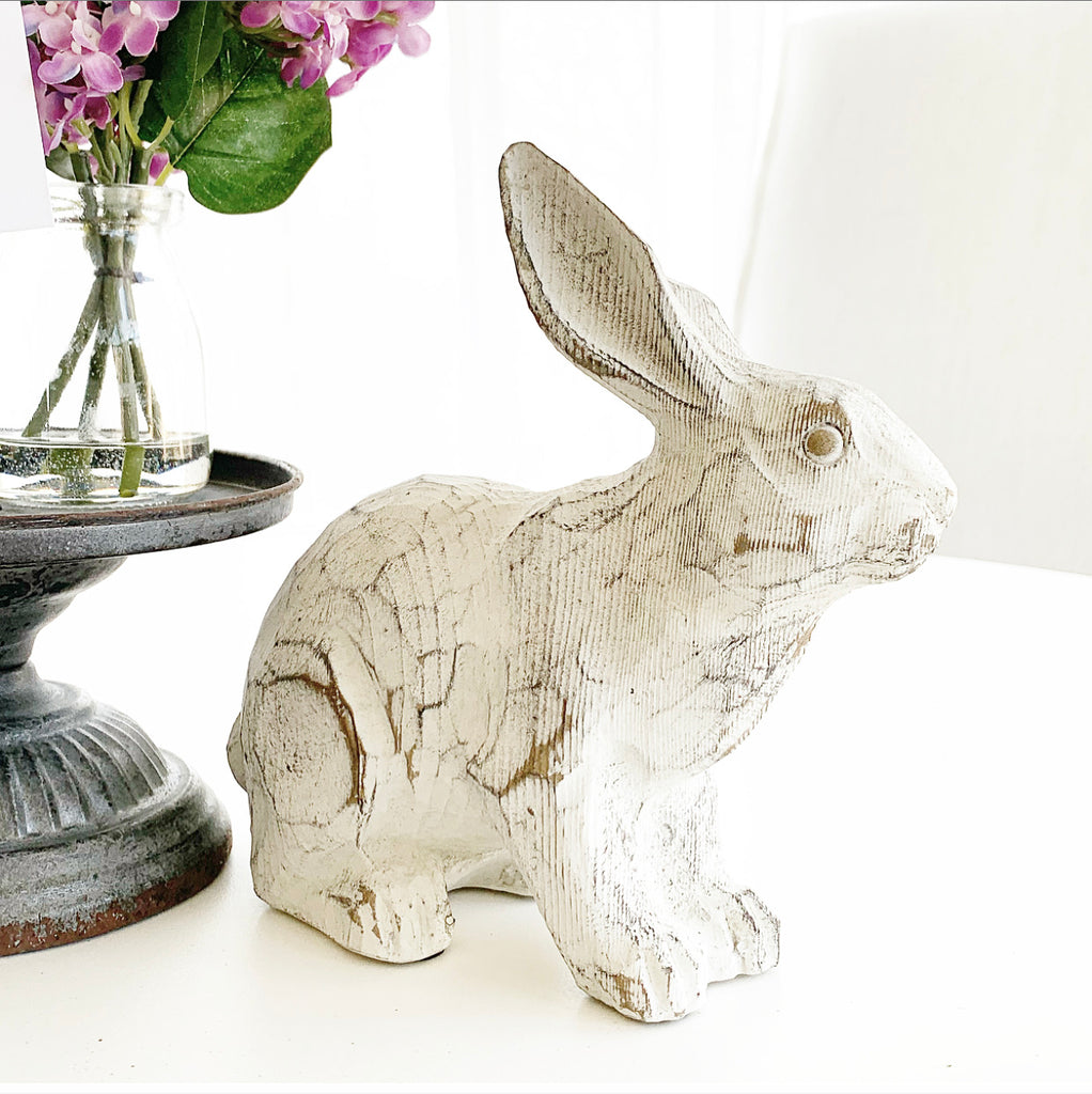 Limed Oak Garden Rabbit
