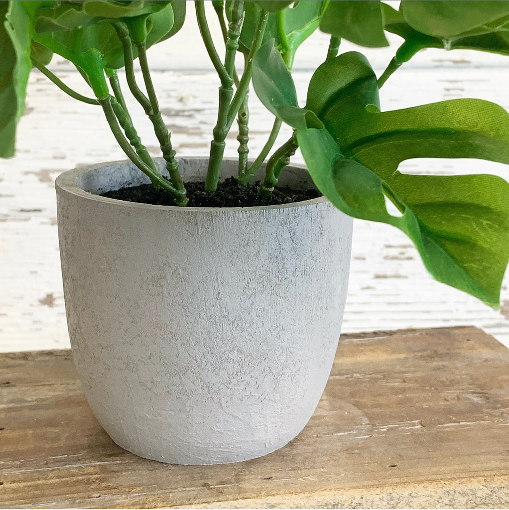 Split Leaf Faux Potted Plant