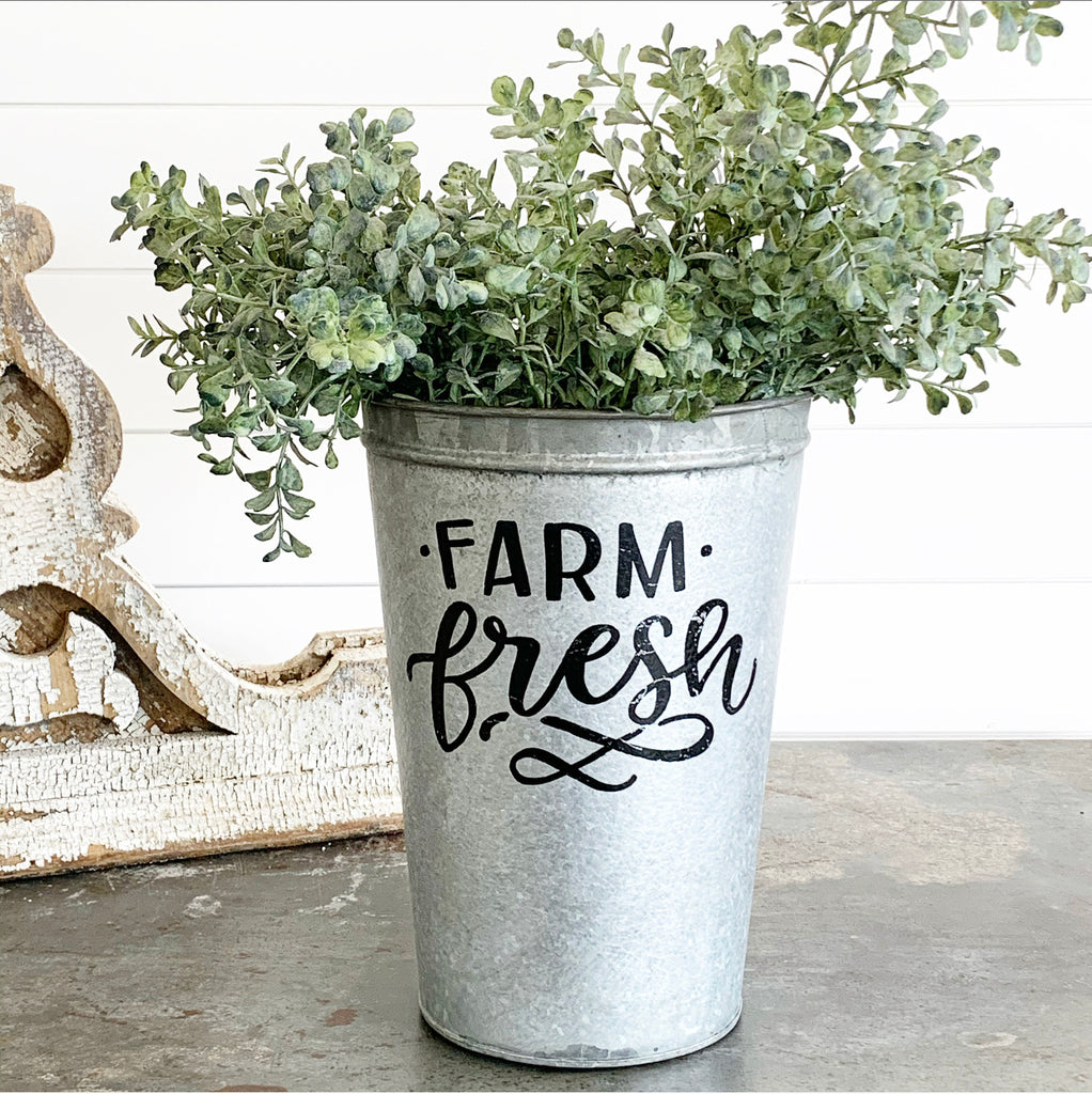 Vintage Farm Fresh Bucket #2 LAST CHANCE