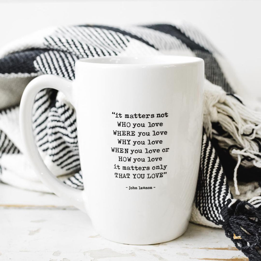 John Lennon Quote Mug