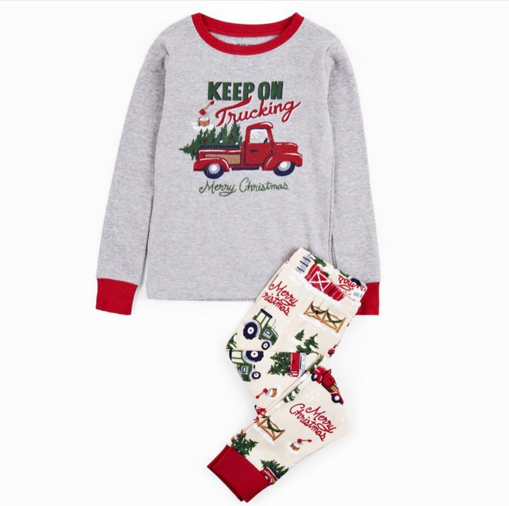 Children's Red Truck Pajamas