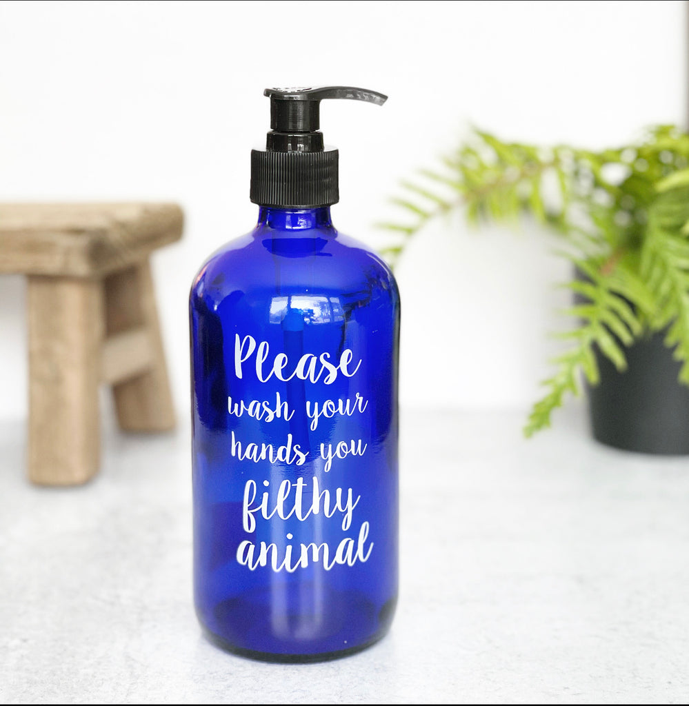 Filthy Animal Soap Pump - Cobalt