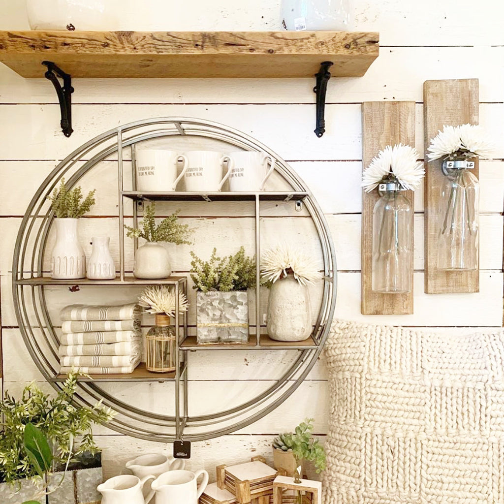 Large Round Wall Shelf
