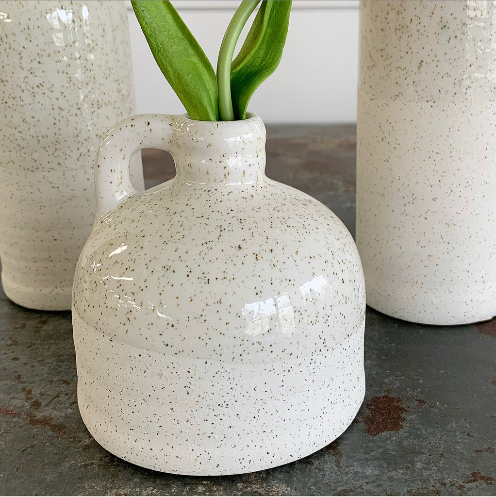 Speckled Jug Vases